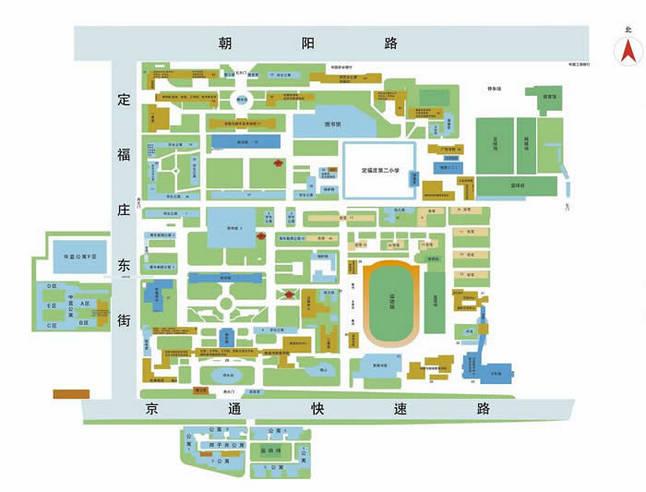 中国传媒大学校内地图